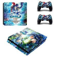 Ys:Lacrimosa of Dana Vinyl Cover Decal PS4 Slim Skin Sticker for PlayStation 4 Slim Console & 2 Controllers