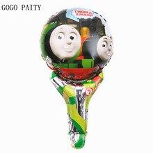 GOGO PAITY Frete Grátis Nova Mão Vara Brinquedo Brinquedos Festas Thomas Balões da Festa de Aniversário de Alumínio