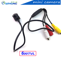 New arrival super small color video camera 600TV 3.7mm lens with audio Line HD Tiny Mini home Security CCTV Pin Hole Camera