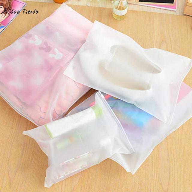 1 pcs Translúcido Zip À Prova D' Água Saco de Armazenamento De Roupas de Underwear Socks Viagem Organizador Bolsa de Vácuo Selado Kit Pacote de Acabamento