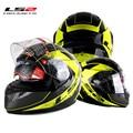 100% de calidad Superior del envío libre de la cara llena del casco con airbag Original bolsa de moto racing casco doble lente LS2 FF320