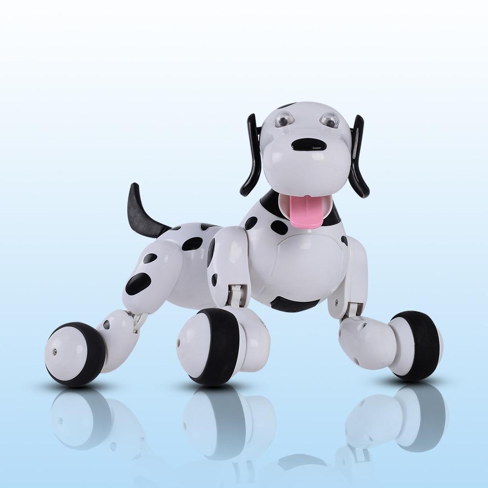 2019 Date Belle 777-338 robot RC Smart Dog 2.4G RC Simulation Intelligente Mini Chien Blanc Rose jouets RC Pour enfants cadeau de noël - 4