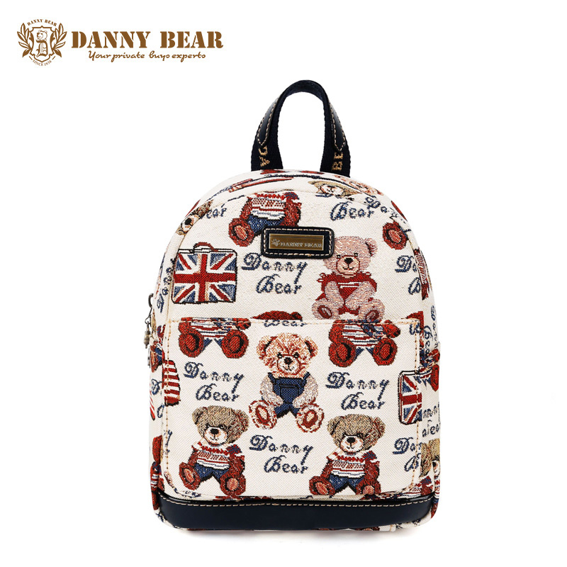 DANNY BEAR Cheap Students School Backpack Fashion Women Backpacks Teenager Girls Vintage Back Pack Bag Cute Travel Backpack Bags
