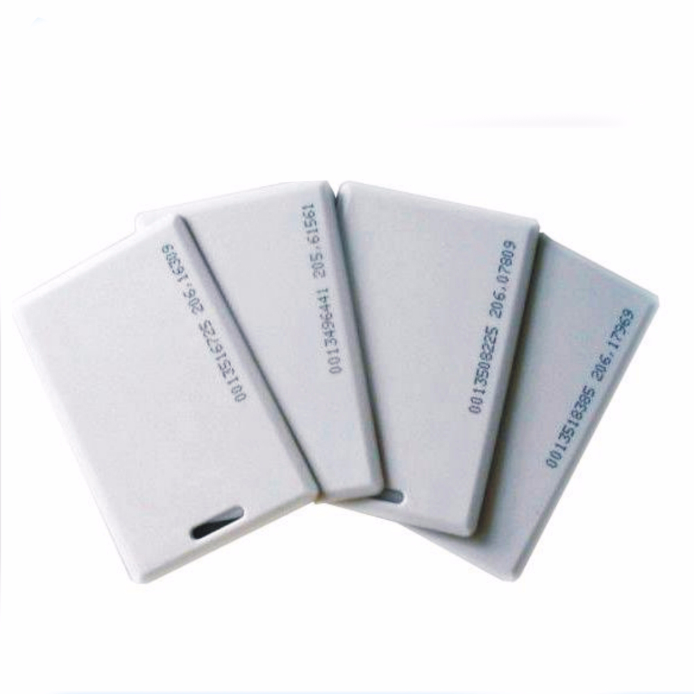 Free Shipping 100pcs/lot  Access Control Thick Id Card 125k/Thick EM4100 125 KHZ ID Card, White