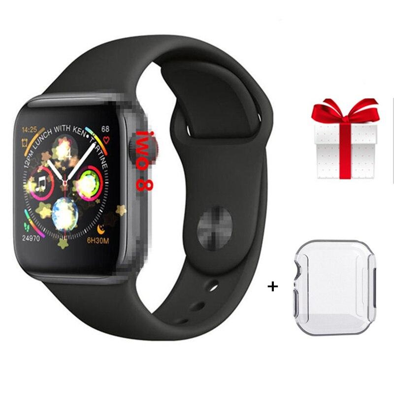 Smartwatch iwo 8 + étui de protection d'écran montre intelligente hommes série 4 moniteur de fréquence cardiaque Bluetooth montre pour IOS Android VS IWO 7 IWO9