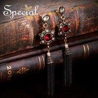 Special New Fashion Long Tassel Earrings Bohemian Rhinestones Stud Earrings Ear Piercing Jewelry Gifts For Women