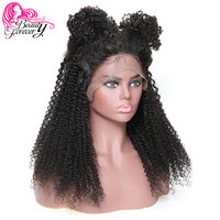 3976eed6e BeautyForever 13*6 Malaysian Kinky Curly Lace Front Wigs 150% Density 100%  Remy