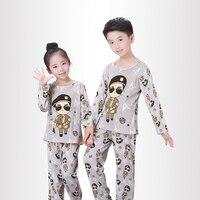 Детские пижамы с длинными рукавами с героями мультфильмов осенняя одежда для сна для мальчиков и девочек детский Ночной костюм детская оде...