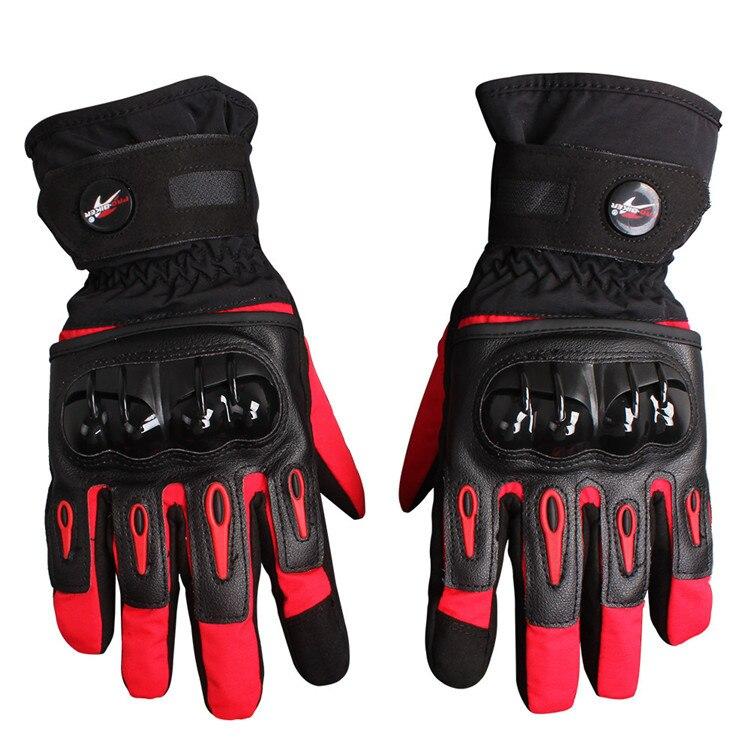 guantes moto luvas da motocicleta Winter Waterproof Warm Touch Screen Leather Gloves Outdoor Motorcycle Motocross Racing Gloves