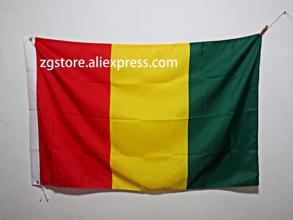 Guinea Africa National Flag All Over The World hot sell goods 3X5FT 150X90CM Banner brass metal holes