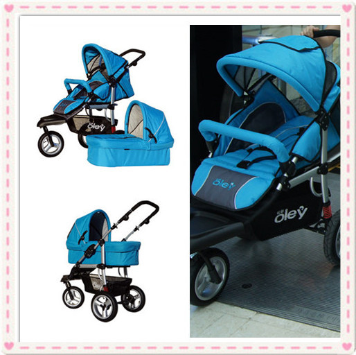 Luxury High Landscape Children Buggy 3 In 1 For 0-3 Years Baby Pushchair With Car Seat,Bassinet 3 In 1 Infant Prams Hot Sale