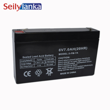 6V 7.0AH герметичные батареи для хранения свинцово-кислотные аккумуляторные батареи для детей электромобиль электронные аварийные огни