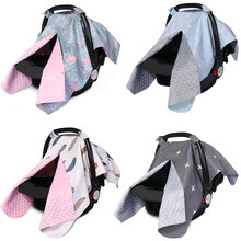 Fashion Baby Car Seat Blanket Cover Bow Newborn Baby Girls Soft Safety Car Seat Canopy Nursing Cover Multi-use Blanket Cover(China)