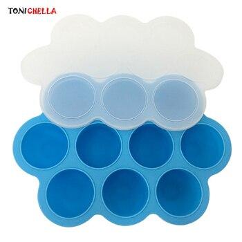 Контейнер для детского питания, силиконовый контейнер для хранения грудного молока, посуда для кормления младенцев, портативная детская столовая посуда, коробка с морозильной камерой T0517
