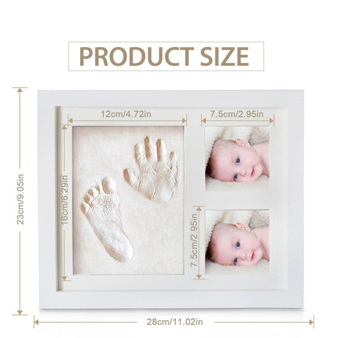 Mignon bébé cadre photo à faire soi-même 3D handprint ou empreinte souvenir sûr encreur non toxique cadeau de cérémonie pour bébé