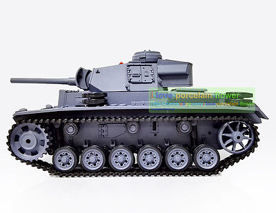 HengLong 1/16 German III L RC Tank Smoke Airsoft Sound Plastic Version 3848