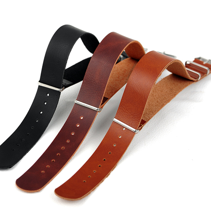 Retail--Hot Sale Men&Women 22MM PU Leather watch band for watch straps, casual NATO wrist watchband black brown & Dark brown adjustable wrist and forearm splint external fixed support wrist brace fixing orthosisfit for men and women