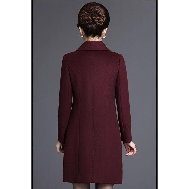 5xl Veste Femmes Tempérament Haute bourgogne Taille Plus Vestes Manteau Nw950 De Laine Vert Long Mode La Qualité Élégant D'hiver X0P8nkNwO