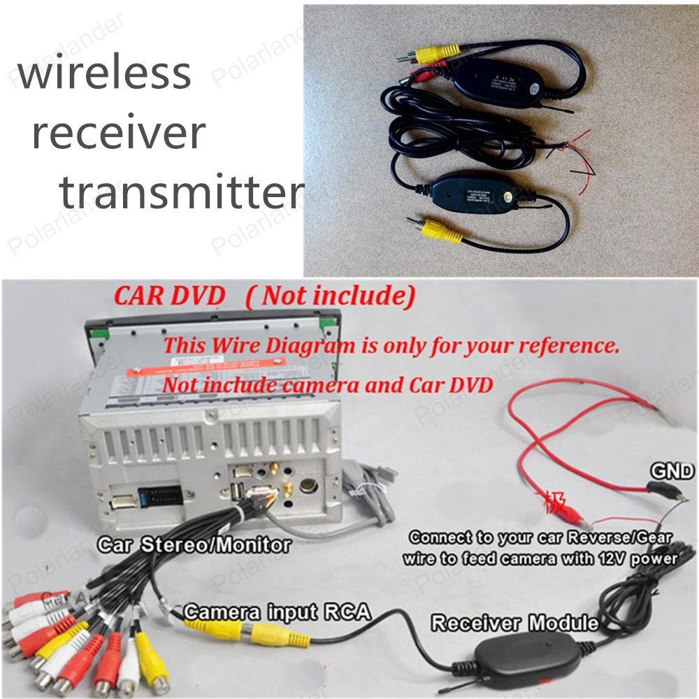 Good quality wireless transmitter receiver kit for connect rear good quality wireless transmitter receiver kit for connect rear view reverse camera rearview backup camera in vehicle camera from automobiles motorcycles asfbconference2016 Choice Image