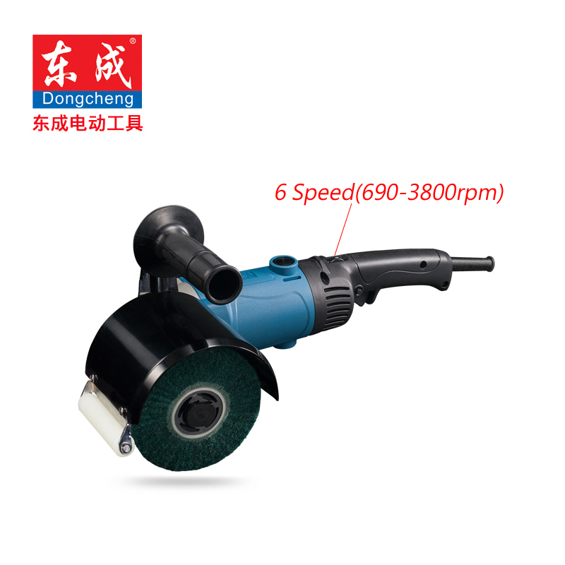 1400W Grinding For Metal 6 Speed Polishe Drawbench 690 3800rpm Slip Drawing Machine Sander 120*100mm Polisher Wheel