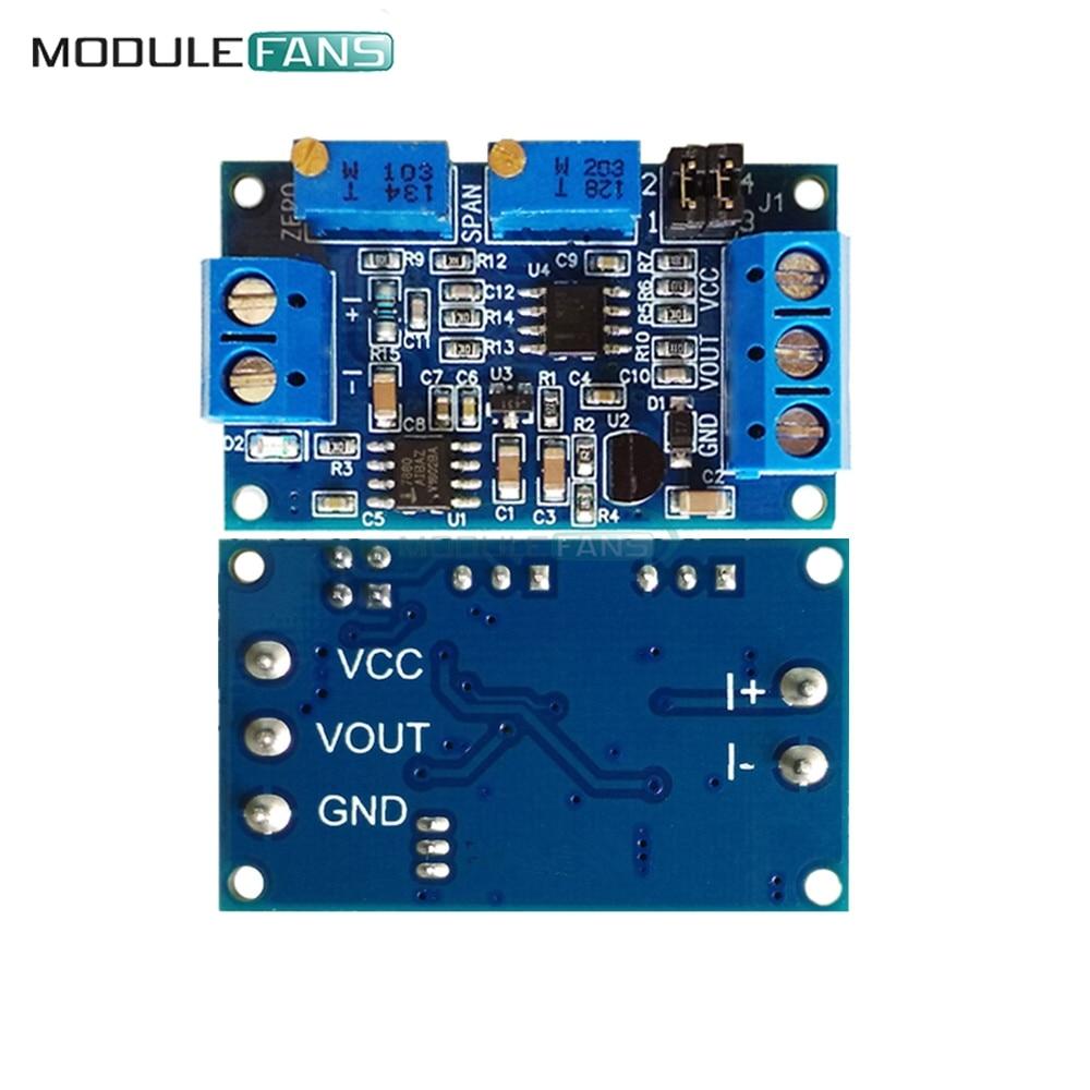 Current to Voltage Module 0/4-20mA to 0-3.3V 5V 10V Voltage Transmitter Converter Signal Conversion Module Board Diy Electronic
