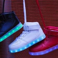 High top LED shoes men light up nmd tenis led superstar unisex leisure casual luminous neon jordan shoes hot fashion colorful