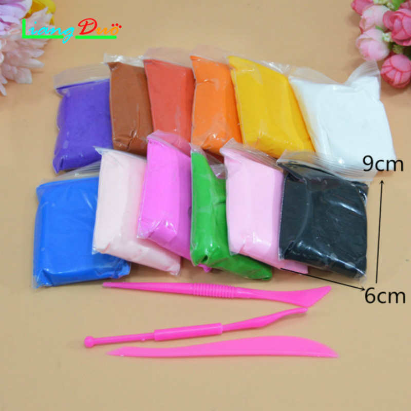 12/24/36 Color Hand Gum DIY Slime Playdough Ultra Light Plastic Clay Plastic Polymer Slime Education Soft Play Dough Kids Toys