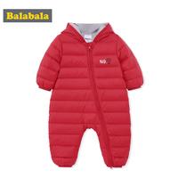 balabala Baby Clothes Girls Boys Rompers Down Jumpsuit Autumn Winter Newborn Clothes Warm Outwears Fashion Hooded Infant Cloth