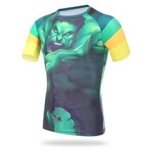 Mountain Bike Cycling Jersey Short Cycling Clothing Cycle T Shirts Body Building Soccer Jersey Superman Running Sports T-shirt