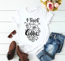 I Teach Therefore I Drink Coffee Shirt Funny Teacher graphic slogan grunge aesthetic tumblr tee quote top