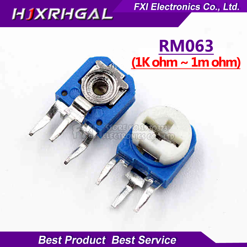 10pc 3296W 10K ohm-103 Multi-Turn Trimmer Adjustable Resistance Potentiometer TP
