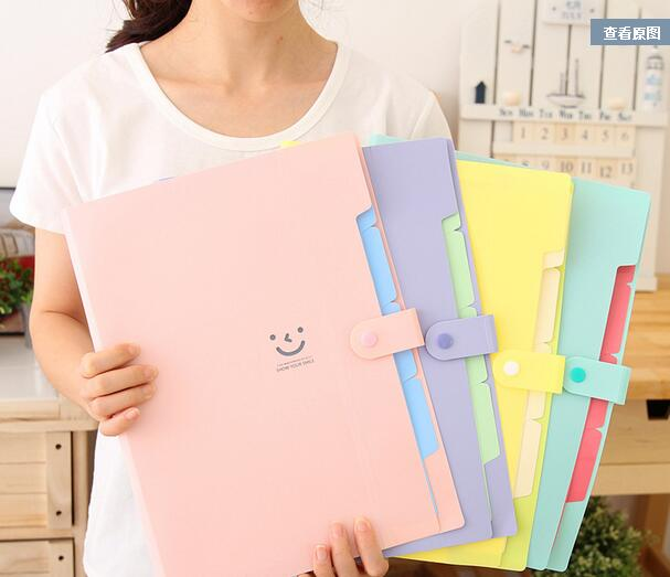 Cute folder Paper Category High capacity Office Supplies free shipping 8585bb69e197