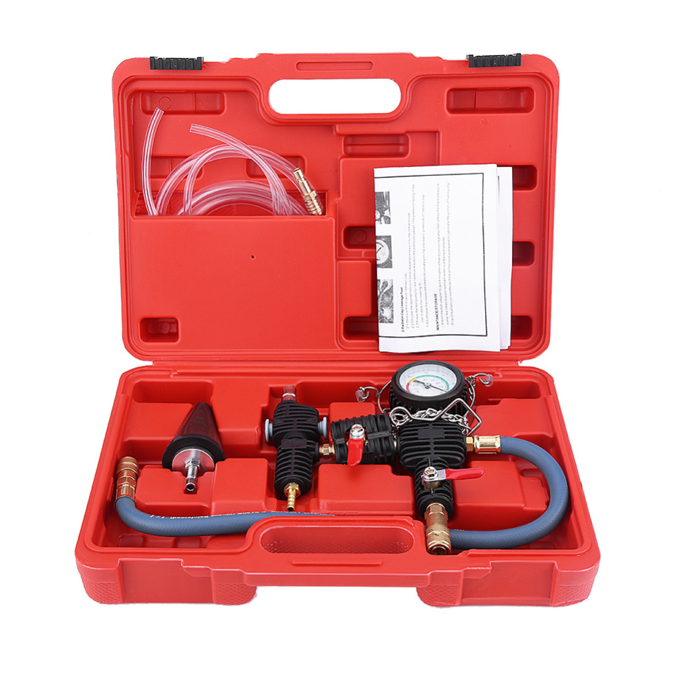 Cooling System Vacuum Purge & Coolant Refill Kit With Carrying Case For Car SUV Van Cooler Car Accessories