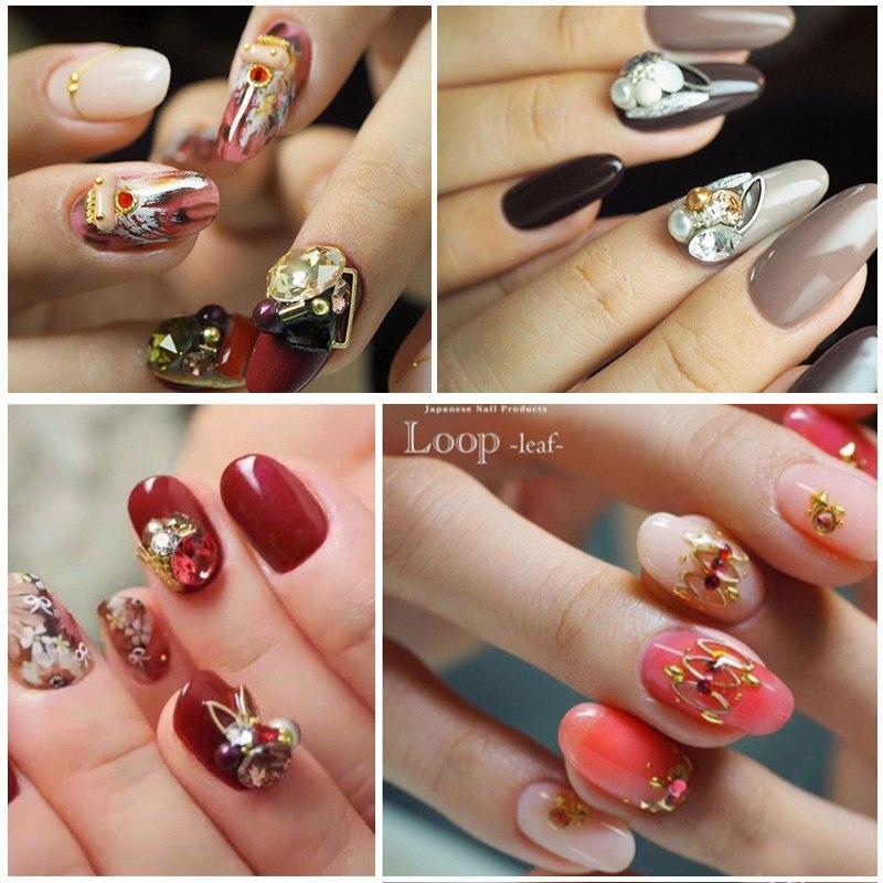 New Japanese nail products 100pcs Nail art alloy loop rivet ...