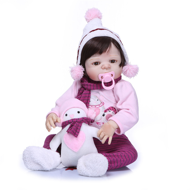 NPK Bebe Reborn 55cm Full Body Silicone Reborn Dolls Realista Vinyl Princess Toddler Girl Babies Doll with Plush Toys Gift npk bebe gift realista reborn dolls 23 inch 57cm full silicone body reborn babies boy dolls children new year gift bath toys bon