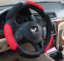 car styling sport style anti-Slip 38CM steering wheel cover Auto Interior Accessories car-styling