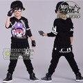 Ropa de Los nuevos Niños Set Trajes Streetwear Cráneo de Impresión de Manga Larga Niños Trajes Del Deporte Hip Hop Danza Pantalón y Sudadera