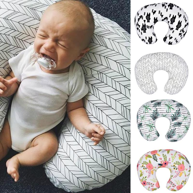 65*25cm U-shaped Pillow Cover Washable Nursing Pillowcase Removable Infant U-shaped Pillowslip Feeding Waist Cushion Cover
