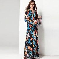 2018 Women Dresses Spring Long Floral Plus Size Winter Designer Elegant Robe Prom Evening Party Club Womens Maxi Runway Dress