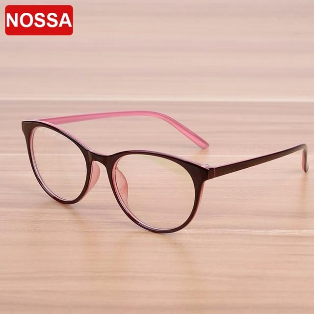 Merek Oval Wanita pria NOSSA Resep Kacamata Bingkai Optik Kacamata Bingkai  Kacamata Bingkai Kacamata Perempuan Elegan d391899d3c