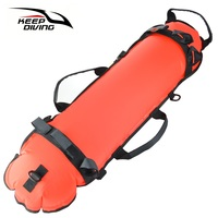 KEEP DIVING Scuba Diving Inflation Torpedo Buoy Signal Float Ball & Diving Flag Free Diving Swimming Signal Float Buoy
