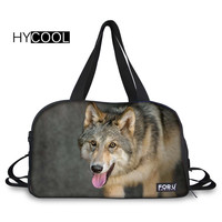HYCOOL Sports Bag For Gym Fitness Women Men Bolso Deportivo Mujer Breathable Multifunction Wolf Printed Handbag Teens Yoga Bags