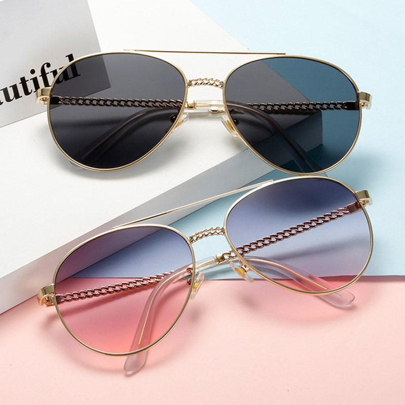 GYKZ Fashion Sweet Vintage Luxury Multi Colors Glass Unisex Pilot Sunglasses Women Brand Design Polarized Oculos de sol Eyewear