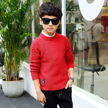 2018 winter children's clothing Boy's clothes pullover Sweater Kids clothes Cotton products Keep warm Boy sweater Thicker