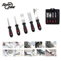 5pc Metal Pry Tool Set Car Modification Disassembly Tool Auto Panel Door Trim Upholstery Clip Remover