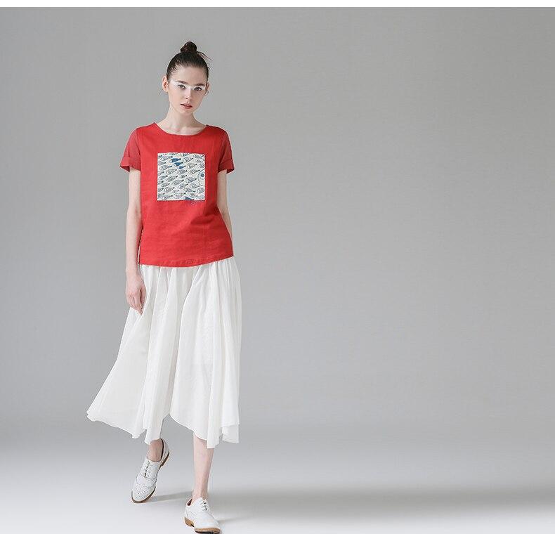 HTB1OMiBPXXXXXb8XFXXq6xXFXXXi - t shirt femme 2017 Summer Fish Tees Tops O-Neck