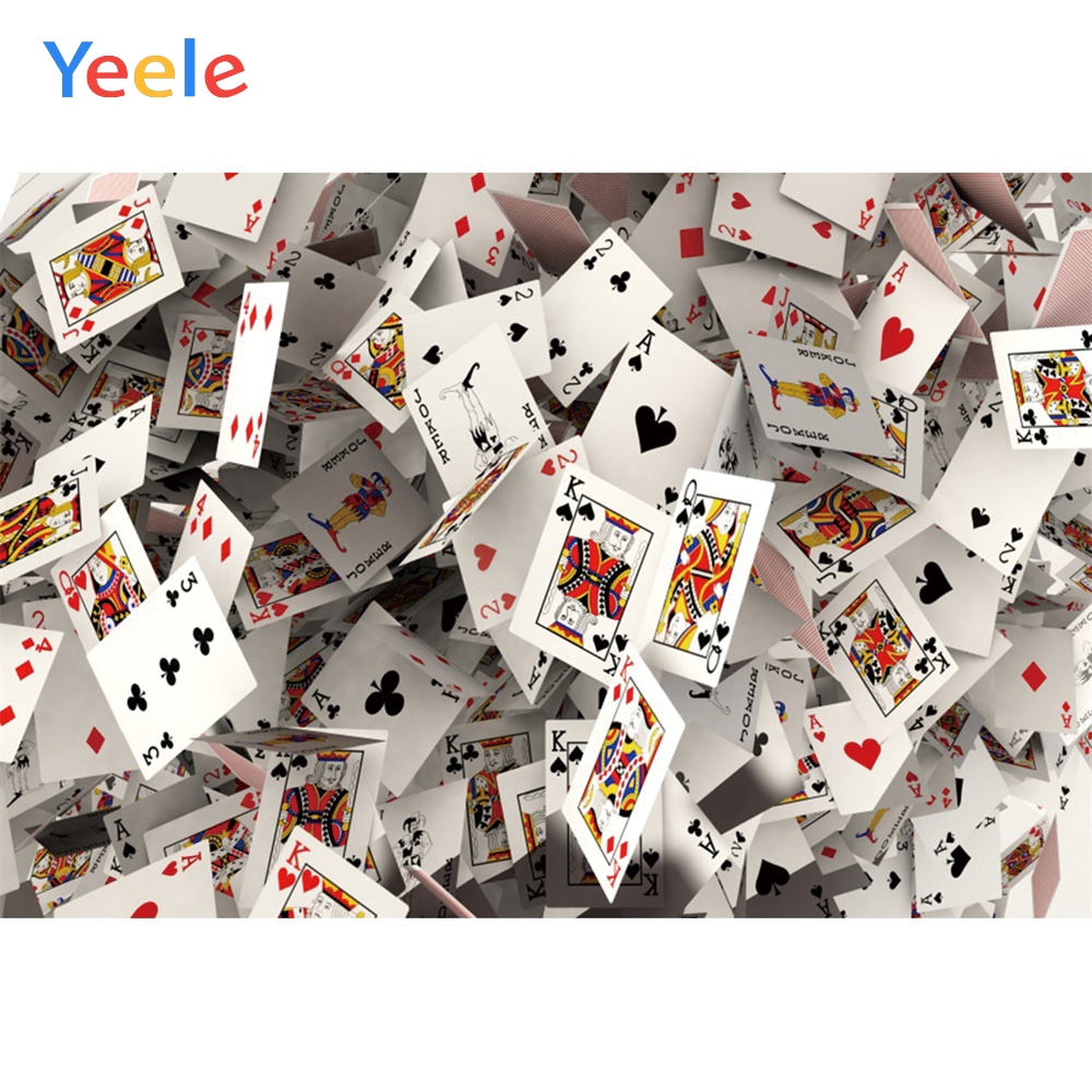 Yeele Poker Gambling Casino Playing Card Poster Painting Photography Photographic Backgrounds Party Backdrops For Photo Studio(China)