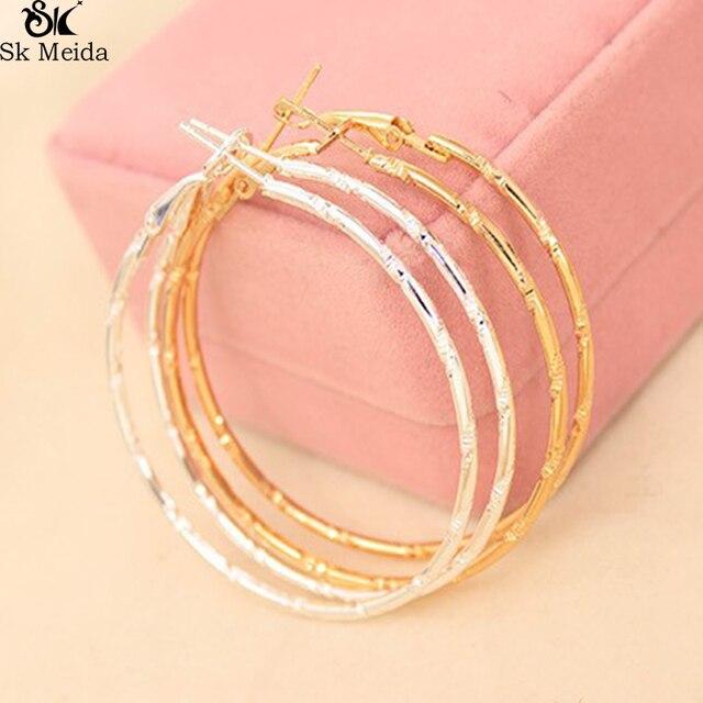 Big Circle Earrings for Women Hollow Circle Pattern Earrings Atmosphere Simple I