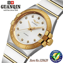 Limited Edition GUANQIN Luxury diamond watch for men waterproof sapphire 18K gold men's watch brand luxury mens gold watch