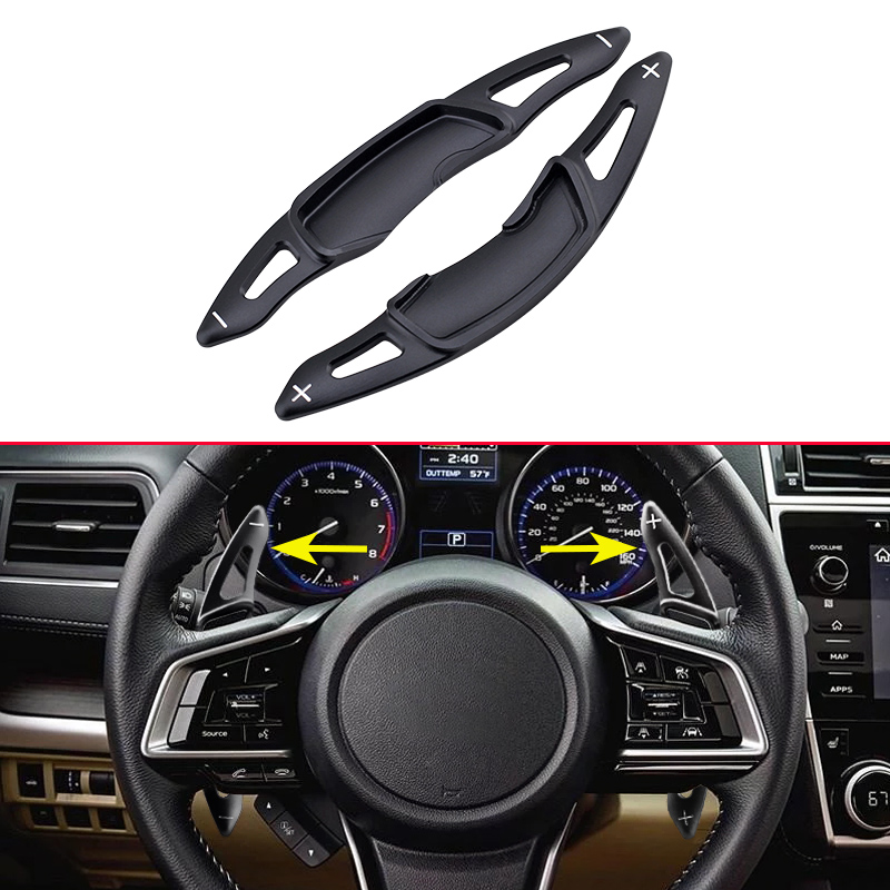 Steering Wheel Gear Shifter Black Paddle Ex Accessories For Subaru BRZ Forester SJ Outback XV Crosstrek